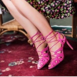 Banana Republic | NWOT Julie Pink Lace Up Sandals